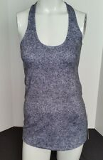 Lululemon Cool Racerback Tank Top SiZE 10 Black White RIOD Athletic Yoga NWT