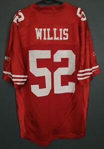 MEN'S SAN FRANCISCO 49ers PATRICK WILLIS NFL FOOTBALL SHIRT JERSEY SIZE L LARGE