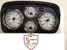CRUSCOTTO COMPLETO GIANNINI FIAT 500 TUTTE  DASHBOARD  NERO STRUMENTI BIANCHI