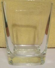 Crown Royal Square Bottom Lowball Whisky Rocks Glass From   Italy