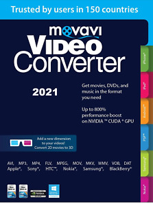 NEW :  Movavi Video Converter 2021 Personal Convert video ,DVD 170 formats