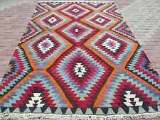 """Vintage Anatolian Turkish Antalya Kilim Rug 74,4""""x114,1"""" Area Rug Kelim Carpet"""