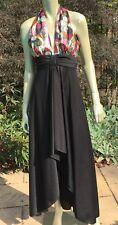 Vintage 60'S Lurex  High Low Maxi Dress Hostess Evening Gown!  S