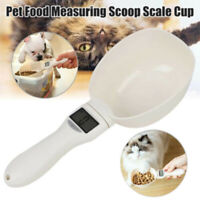 Pet Dog & Cat Food Measuring Spoon Weighing Scale Cup Feeding Bowls Portable NEW