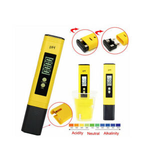 PH Meter LCD Digital Electric Tester Pen Hydroponics Aquarium Water Test Kit
