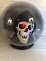 "Vintage 10"" Halloween Talking Skull Skeleton Animated Crystal Spirit Ball Gemmy"