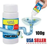 Toilet Kitchen Sink Pipe Dredge Deodorant Unclog Drain Sewer Cleaning Powder US