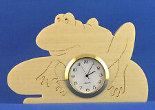 Frog Mini Clock - Hand cut w/ choice of insert