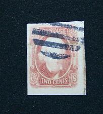 1863 US Confederate Stamp #8 Used Large Margin Catalogue Value $350