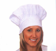White Cotton Chef Hat Tailgate Cook Baker Adult Halloween Costume