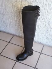 Thigh high 32  Inches shafts engineer boots HEAVY LEATHER custom  made any size