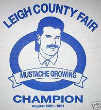 XL mustache champ awesome beard tee novelty humor cool new funny vintage t shirt