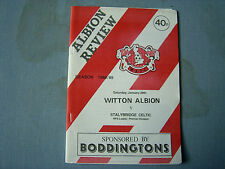 WITTON ALBION v STALYBRIDGE North Prem Div 1988-89 last season at Central Ground