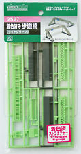 Greenmax No.2527 Pedestrian Bridge (Light Green Painted) (1/150 N scale)