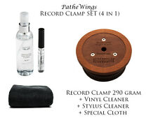 PanzerWood Stabilizer Record Clamp Weight Puck 290g + Vinyl & Stylus Cleaners !