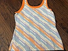 ON SALE!! Women's Nike Athletic Orange Sleeveless Top Geometric, Size L, SOFT!