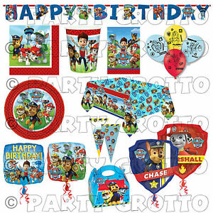 PAW PATROL Boys Hero Rescue Pups Birthday Party Supplies Tableware Decorations