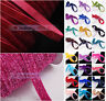 "10 Yards 3/8"" 10mm Flocked Velvet Ribbons Bows DIY Sewing Trim Crafts"