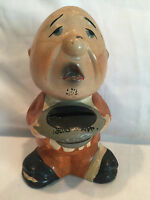 Collectible Sam Syor Hand-Painted Old Vintage Coin Bank