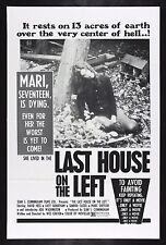 LAST HOUSE ON THE LEFT * CineMasterpieces WES CRAVEN HORROR MOVIE POSTER 1972