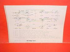 1961 DODGE LANCER 170 770 HARDTOP COUPE SEDAN WAGON FRAME DIMENSION CHART
