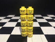 Lego Minifigura cabezas con doble cara X10 Macho/Tipo De Niño// Repuesto