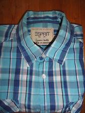 Karierte Esprit Herren-Freizeithemden & -Shirts mit Button-Down-Kragen