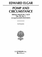 Edward Elgar Pomp And Circumstance Military March No 1 Piano Music Book S124