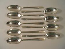 Holmes & Edwards Napoleon Pattern Silver Plate Tapered Bowl Soup Spoon, Set of 9