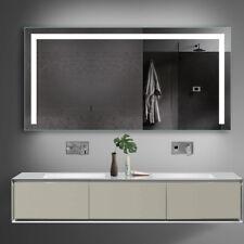 Badezimmerspiegel Badpiegel mit Kalt&Warmlicht und Steckdose 140x70cm TSL140-70