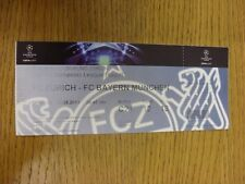 23/08/2011 Ticket: FC Zurich v Bayern Munich [Champions League] (complete). Than