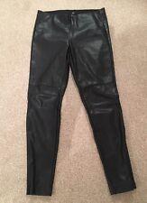 Ladies H&M Faux Leather Pants Trousers Size 12