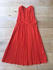La Perla Copacabana Pleated Satin-Twill Orange Beach Dress Size UK 10