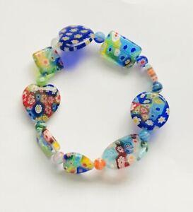 Stunning Mixed Beads Millefiori Glass Bracelet Version 1
