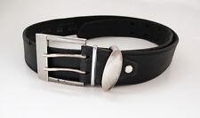 Moda Italia Italian Mens Leather Belt Black