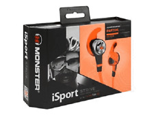 Monster iSport Strive In-Ear Buds Headphones w/3 Buttons ControlTalk Mic Orange