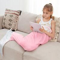 Mermaid Tail Blanket Plush Flannel Fleece Sleeping Bag Wearable Fluffy for Kids