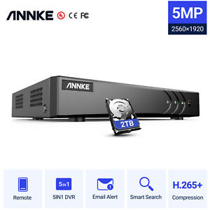 ANNKE 16+2 Channel 5MP Lite DVR With 2TB Hard Drive Remote Access Motion Detect