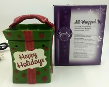"""Scentsy Holiday Collection """"All Wrapped Up"""" Full Size Warmer. New. Open Box."""