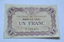 BILLET DE UN FRANC CHAMBRE DE COMMERCE DE BAR-LE-DUC