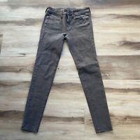American Eagle 360 Super Stretch Olive Green JEGGING Jeans Size 2 Regular