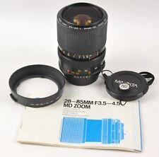 Minolta MD Zoom 28-85mm F3.5-4.5 Macro w/ Caps & Hood