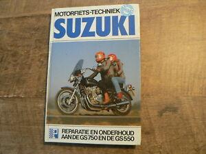 SUZUKI GS750 EN DE GS550 REPARATIE EN ONDERHOUD MOTORFIETS TECHNIEK PETERS