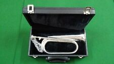 CC Professional British Army Bb Bugle Silver Plated Tune able/Bb Bugle Silver
