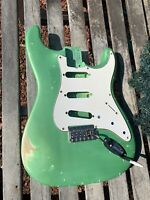 STRAT BODY RELIC 60s Nitro ThinSkinLacquer GREEN Pearl order yours JVGuitars