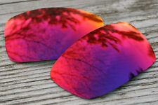 Dark Purple Red Polarized Mirror Replacement Sunglass Lenses for Oakley Spike