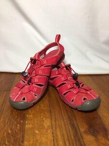 KEEN Women's Red CNX Contour Arch Sport Sandals Size 6 Slip on Hiking Beach GUC