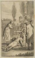 CHODOWIECKI (1726-1801). Trauer und Ohnmacht; Druckgraphik 1