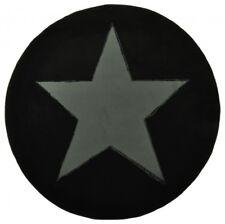 Design Velours Tapis étoile forme arrondie, coloris noir grau140 cm à poils ras