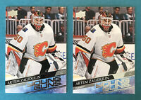 Artem Zagidulin Young Guns Lot X2 2020-21 Upper Deck Series 1 #244 Flames